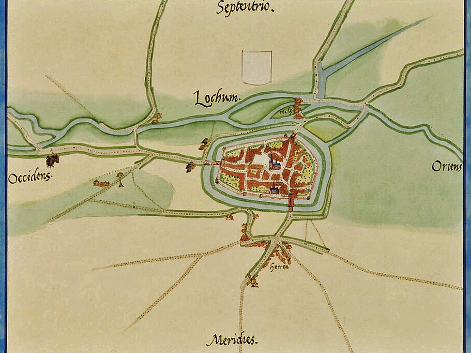 Kaart Van Lochem Door Jacob Van Deventer Historisch Genootschap