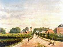 Larenseweg door Gradus ten Pas 1881